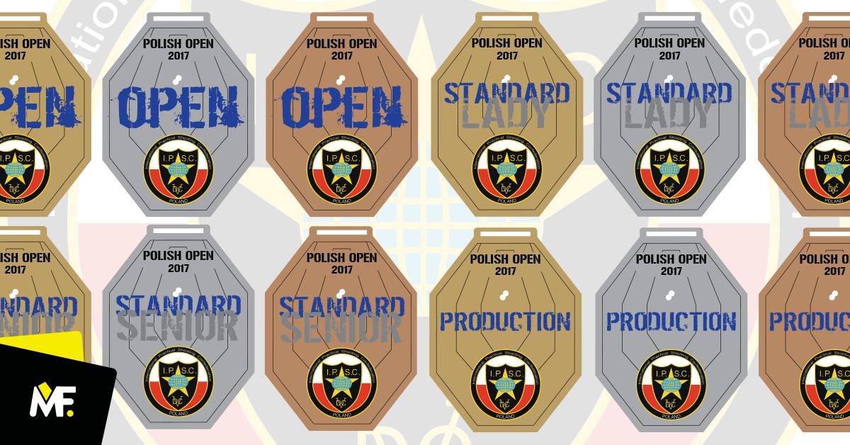 Sportmedaillen mit Aufteilung in Kategorien