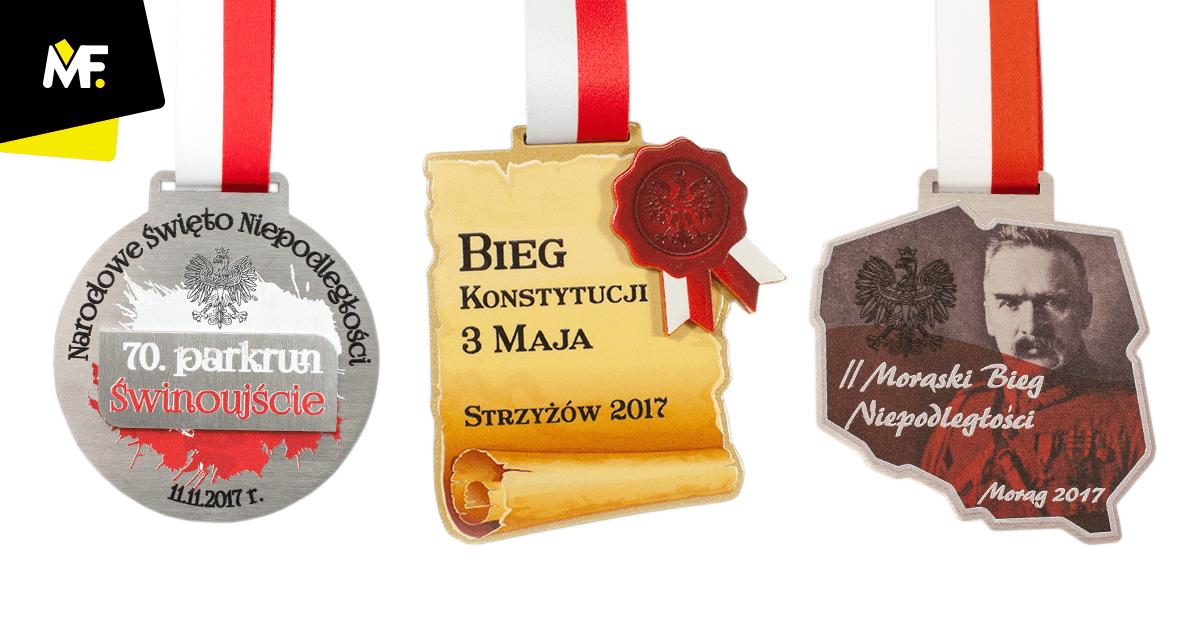 Polnische Medaillen auf Staatsfeier