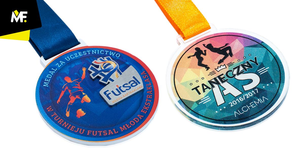 Bunte, personalisierte Medaillen