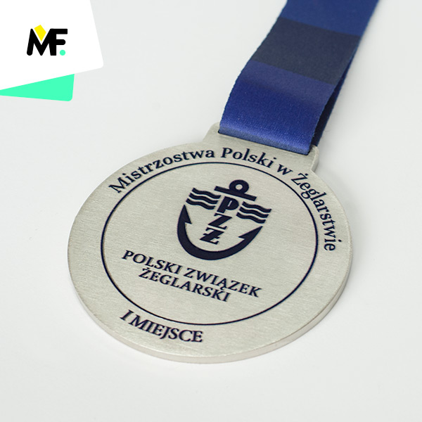 Platz 1 – polnische Meisterschaft im Segeln; Sportmedaille