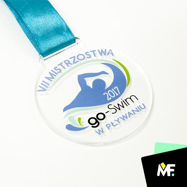 Medaille für Kinder für Schwimmwettbewerbe