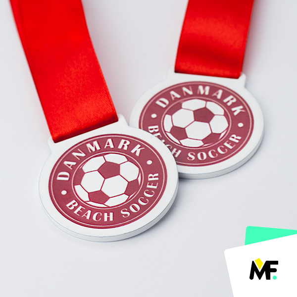 Fußballmedaillen Danmark Beach Soccer
