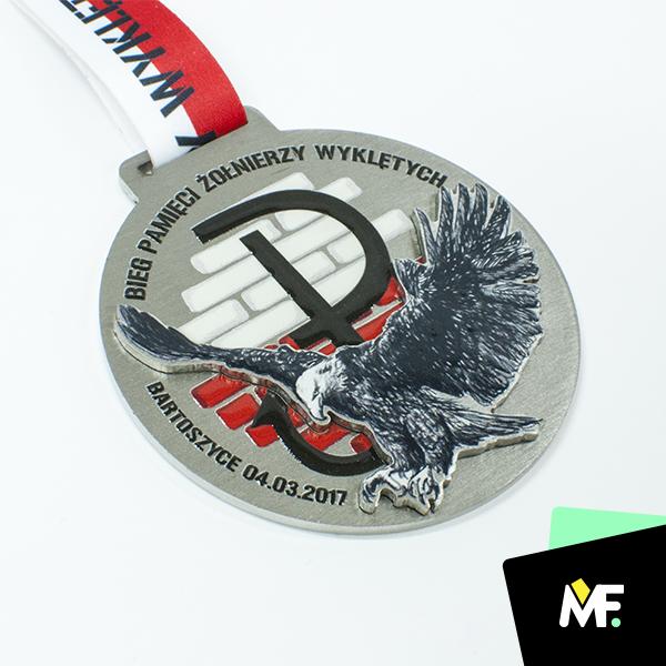 Patriotische Medaille - Gedächtnisrennen der verfluchten Soldaten Bartoszyce 2017