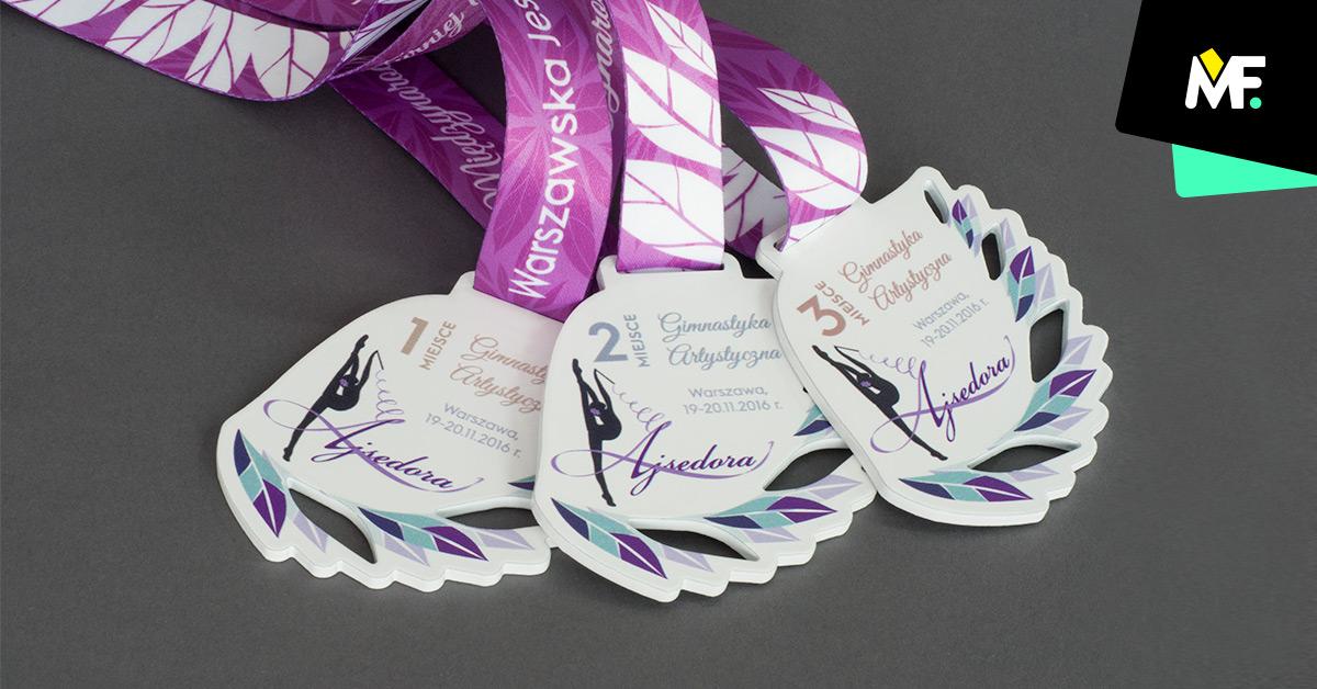 Sportmedaillen für 1. , 2. , 3. Platz im Kunst-turnen