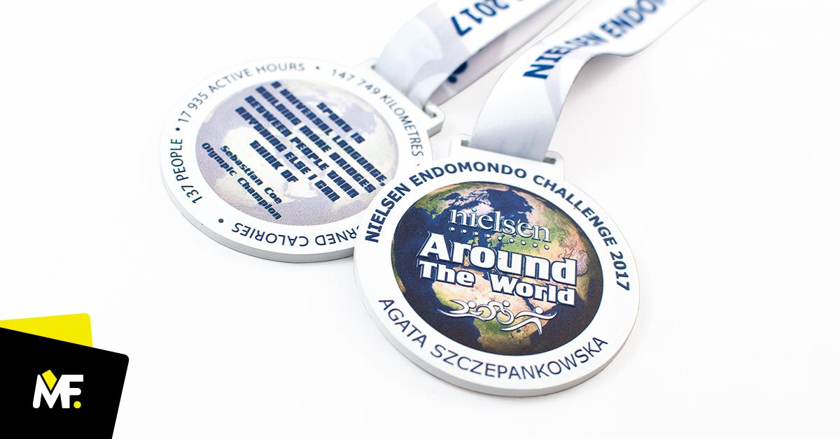 Personalisierte Medaillen Nielsen Endomondo Challenge 2017