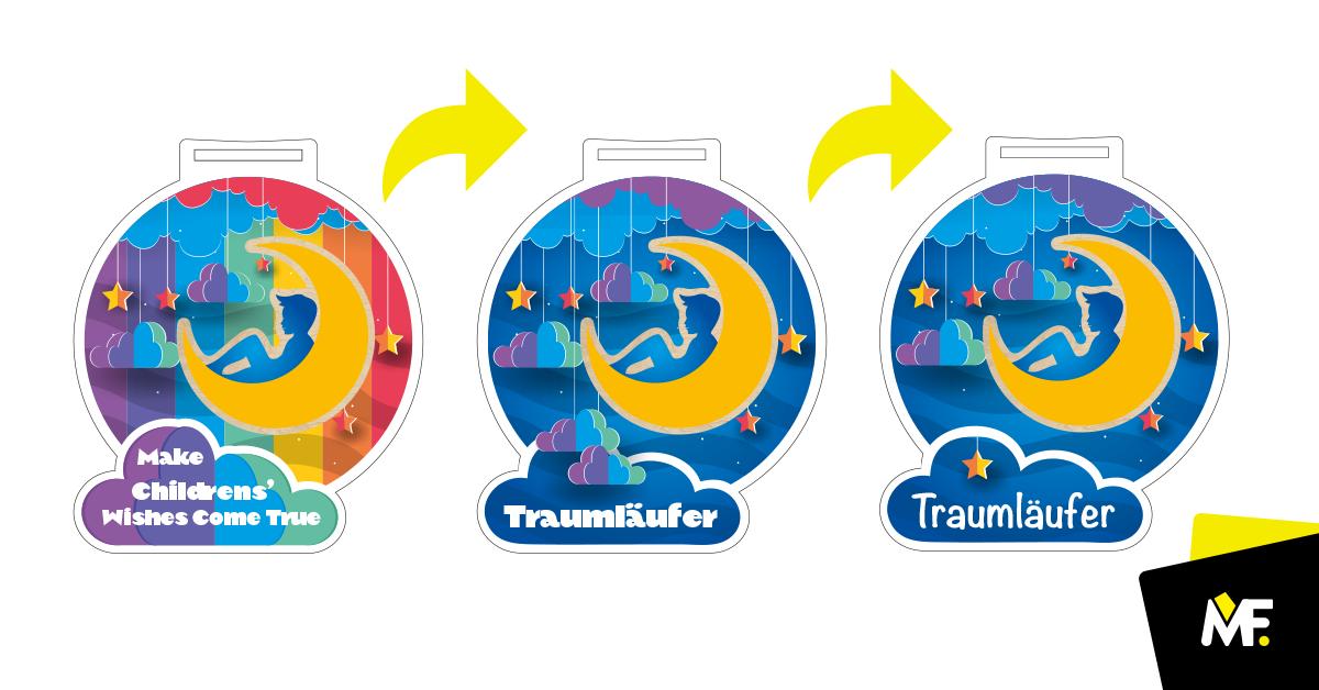 Medaille Design drei Versionen