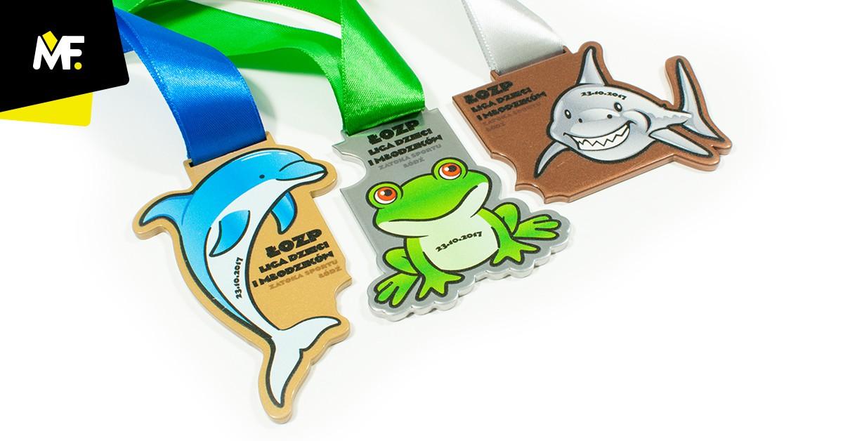 Kinderpuzzle-Medaillen Łódź Schwimmver-band