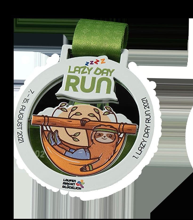 Lazy Day Run Medaille